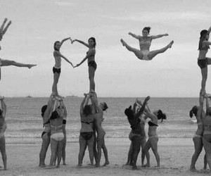 love, beach, and cheer image