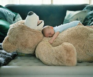 baby, teddy, and love image