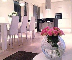 kitchen, flowers, and home image