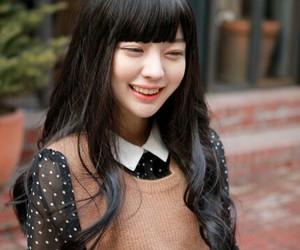 asian girl, bangs, and black hair image