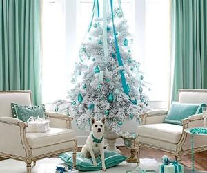 christmas, blue, and christmas tree image