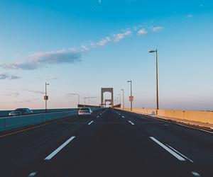 bridge, road, and car image