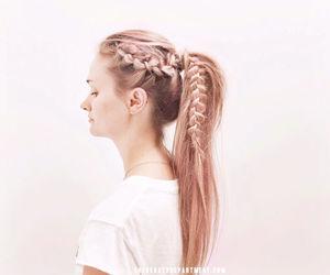 hair, ponytail, and braid image