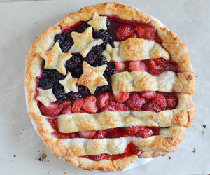 pie, food, and strawberry image
