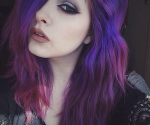 hair, makeup, and pale image