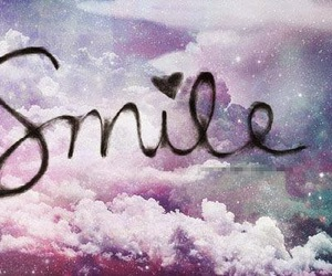 smile, clouds, and galaxy image