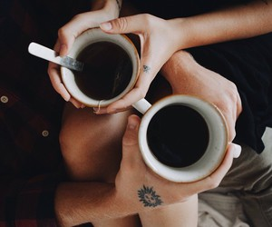 coffee, love, and couple image