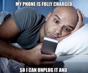 funny, phone, and bed image