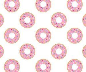 donuts, pattern, and pink image
