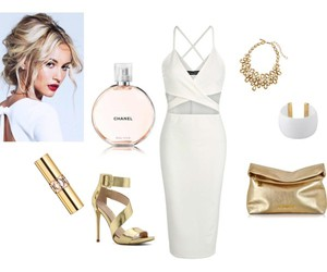 dress, Polyvore, and white image