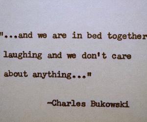 charles bukowski, love, and bed image