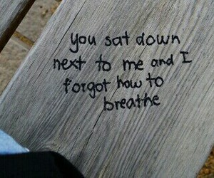 love, quotes, and breathe image