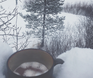 snow, cold, and hipster image