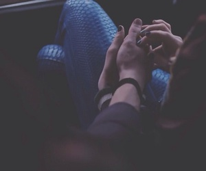 couple, hands, and smile image