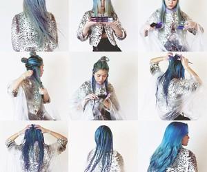 blue hair, diy, and mermaid hair image