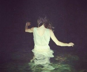 grunge, girl, and water image