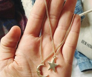 stars, moon, and necklace image