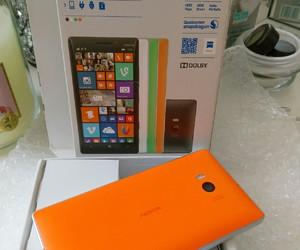 mobile, orange, and smartphone image