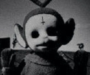 dark, grunge, and teletubbies image