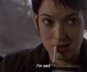 sad, girl interrupted, and movie image