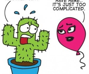 funny, balloon, and cactus image