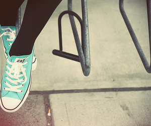 all star, converse, and blue image