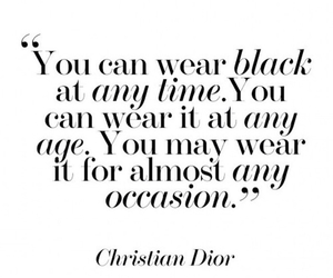 dior, black, and quote image