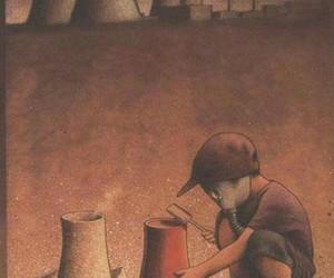 child, art, and sad image