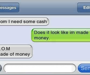 funny, mom, and money image