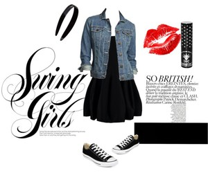 black dress, fashion, and Polyvore image