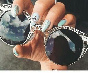 nails, sunglasses, and summer image