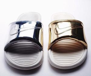 nike, fashion, and gold image