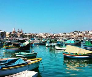 boats, malta, and mediterranean image