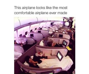airplane, comfortable, and cool image