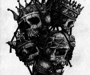 skull, art, and king image
