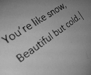 beautiful, cold, and Relationship image