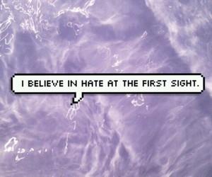 hate, purple, and grunge image