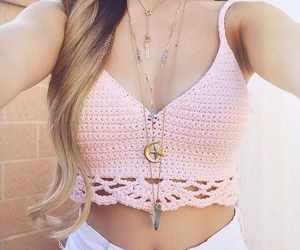 blonde, crochet, and pretty image