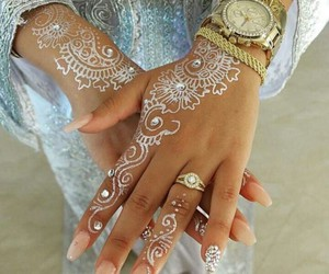 henna, nails, and love image