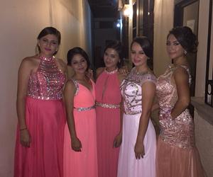 dress, girls, and pink image