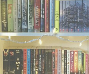 harry potter, paper towns, and hunger games image