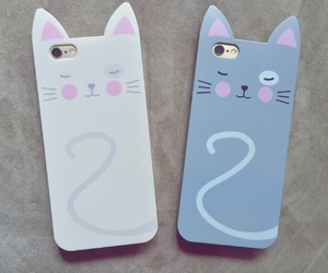 cat, cellphone, and cute image
