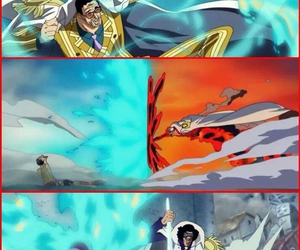one piece, admirals, and marineford image