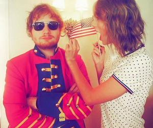 Taylor Swift, ed sheeran, and friends image