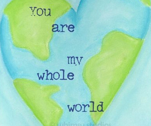 whole world and love image