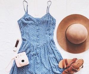 dots, dress, and fashion image