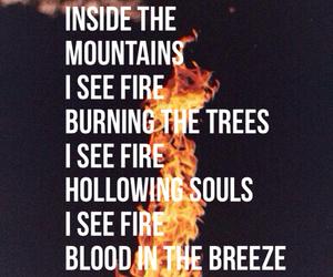 fire, Lyrics, and hobbit image