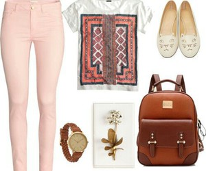 outfit, pastel, and Polyvore image