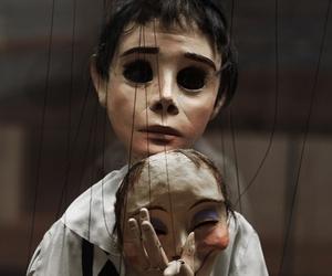 sad, mask, and dark image