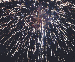 fireworks, grunge, and independence day image